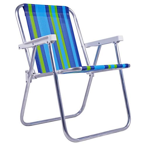 Cadeira De Praia Alumínio Polietileno Dobrável 25500 Belfix