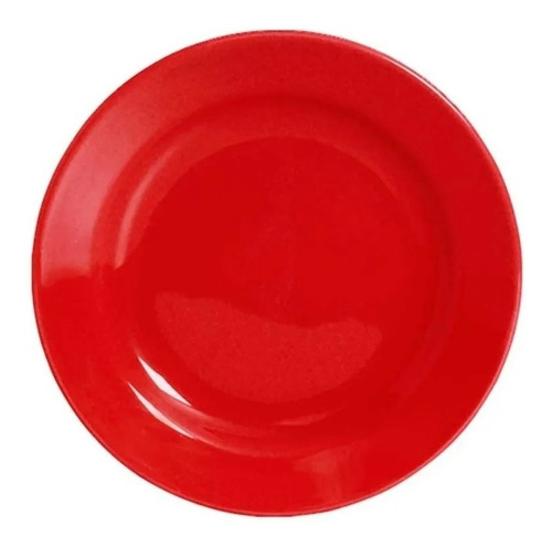 Plato Postre Biona Rojo 18 Cm