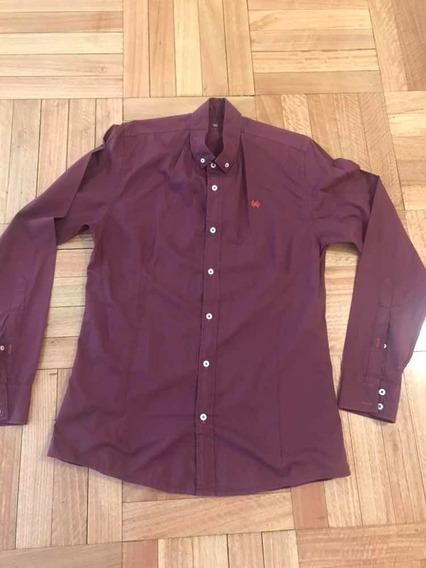 Camisa Bordo/uva Key Biscayne Talle M