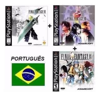 Final Fantasy 7, 8 E 9 Em Português Para Ps1 + Memory Card