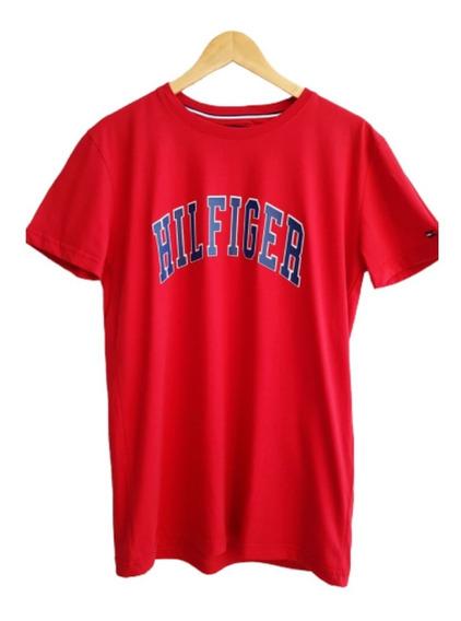 Camiseta Tommy Hilfiger Masculina Vermelha Coleção 2020.