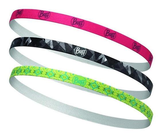 Buff Trio Balacas Hairband Sena Mujer - Rosa/negro/verde
