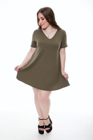 3 Vestido Mujer Bobo Manga Corta Modal Talle Grande C Lycra