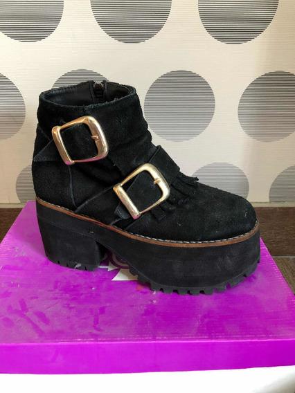 Zapatos Sofia De Grecia Negras, Talle 36.