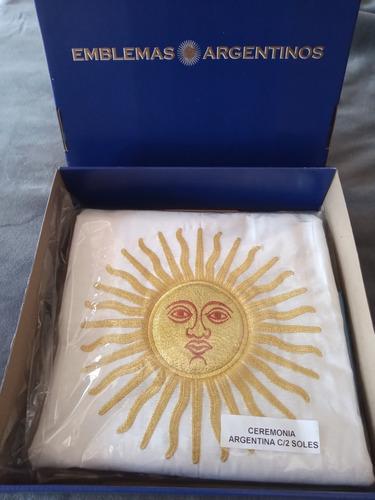 Bandera Doble Sol Argentina Ceremonia Grande Reglamentaria