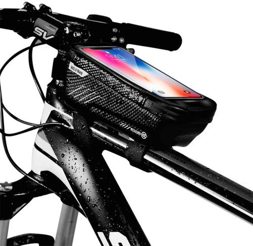 Imagen 1 de 7 de Bolsa De Bicicleta Impermeable Con Caja De Pantalla Táctil