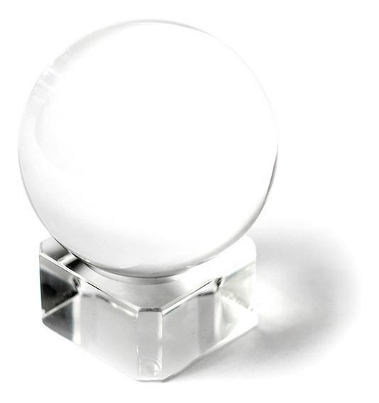 Bola De Cristal Legítimo Grande 60mm + Suporte Lens Ball