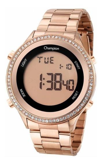 Relógio Champion Feminino Digital Ch40222z Rose