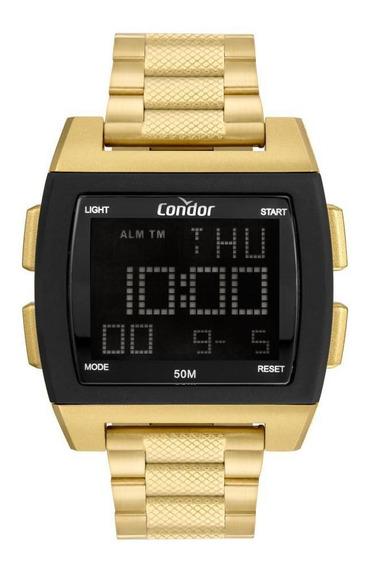 Relógio Masculino Condor Digital Cobj2649ah/8d 46mm Dourado