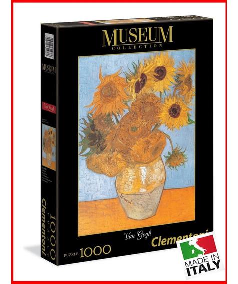 Quebra Cabeça Clementoni 1000 Pçs Van Gogh Vaso Girassóis
