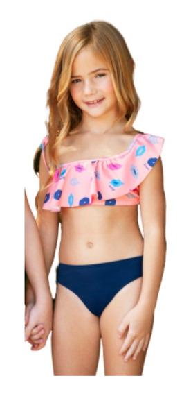 Bikini Tutta La Fruta Top Un Hombro Volados Campanita 407-20