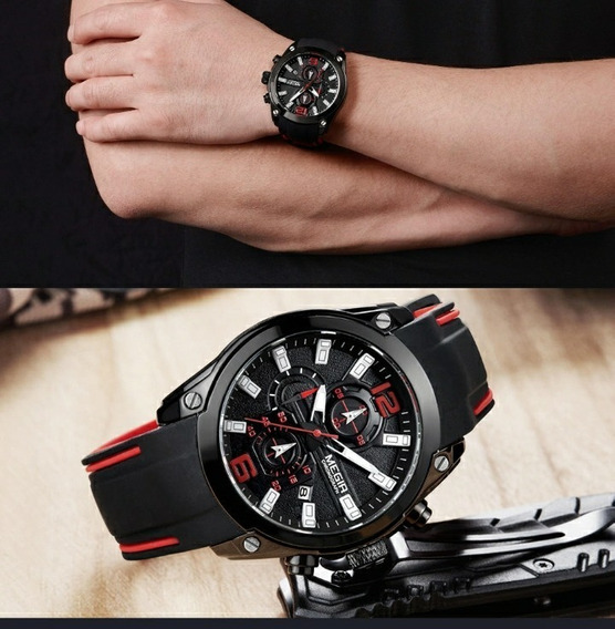 Relógio Megir Luxo Masculino Sofisticado Original Na Caixa