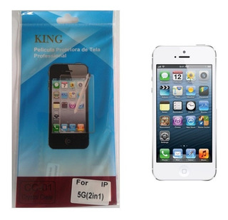Kit 10 Películas Protetora De Tela iPhone 5 / 5c / 5s / 5g Frente E Verso + Flanela - Fosca Ou Invisível / Plástico