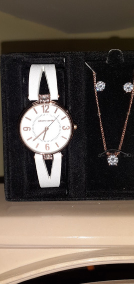 Relógio Pierre Cardin Feminino + Colar +brincos