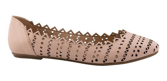 Selfie Zapatos Balerinas Flats Piso Perforado Casual 7000141