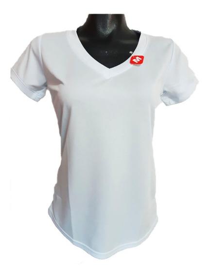 Playeras Para Dama Corte Modelo Europeo Dry Fit Cuello V