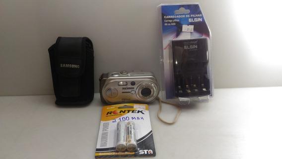 Máquina Fotos Câmera Digital Samsung Digimax A6/a63,100% !