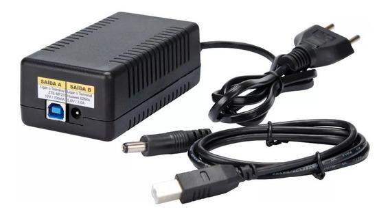 Fonte Micro 5v E 12v Para Modem Midcom, Huawei