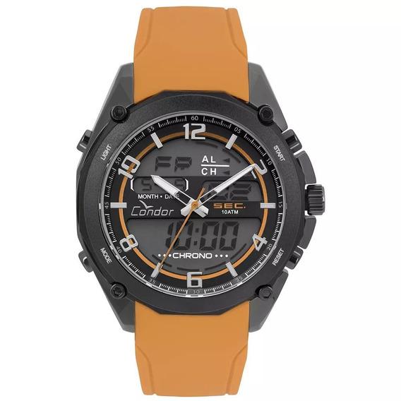 Relógio Condor Speed Masculino Laranja Silicone Incrível