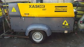 Compresor 350pcm Atlas Xas 300 Año 2014 Seminuevo 1,300hrs