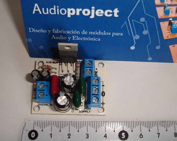Mini Amplificador 30 W C/ Lm1875 - Ultraminiatura! 40x32mm