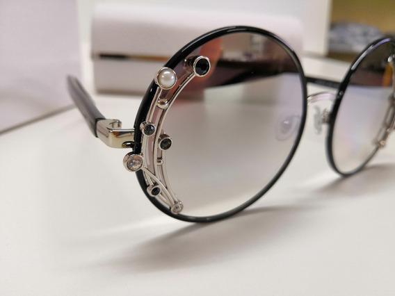 Óculos De Sol Jimmy Choo Gema/s Jinic Espelhado E Cromado