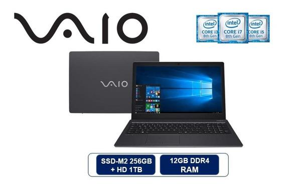Notebook Vaio Core I7 8thg 12gb Ssd256 + Hd 1tb - Novo