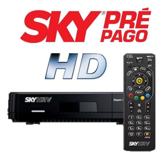 Receptor Sky Prépago Hd Rec 30 Dias Digitais 49 Canais Sh20