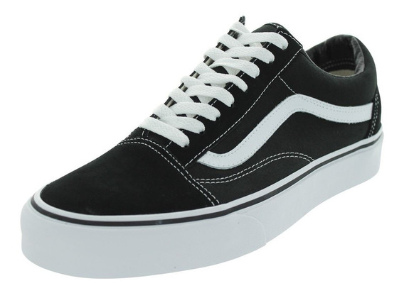 Zapatillas Vans Old Skool Negro C/blanco Originales