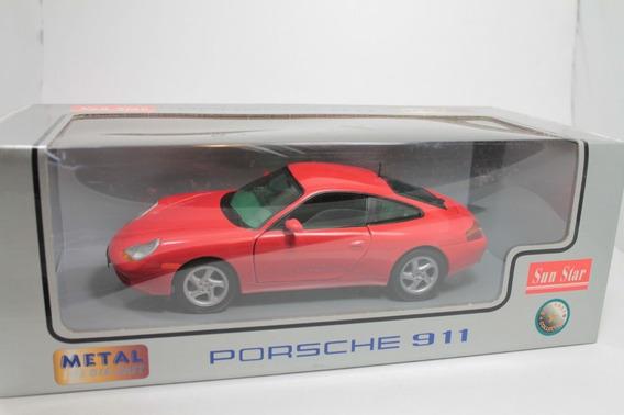 Miniatura Sun Star Porsche 911 Carrera Vermelho Escala 1/18