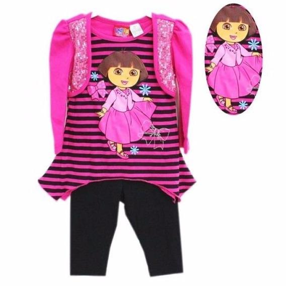 Blusa Dora Com Colete Brilhante E Legging