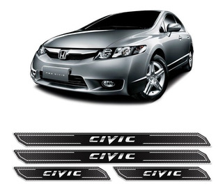 Kit Soleira Da Porta Diamante Honda New Civic Resinada