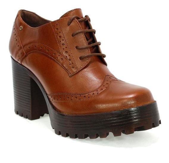 Sapato S.cromo Salto Alto Parô Marrom