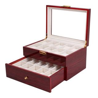 Porta Relojes 20 Unidades Caja De Lujo Madera Hombre Mujer