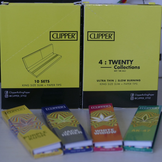 Kit 2 Caixas Raw Clipper King Size + Paper Tips
