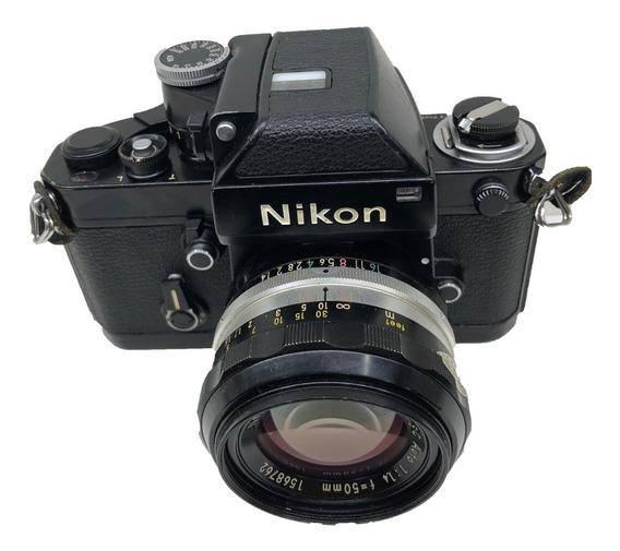 Camera Nikon F2 Com 50mm 1.4 Seminovo