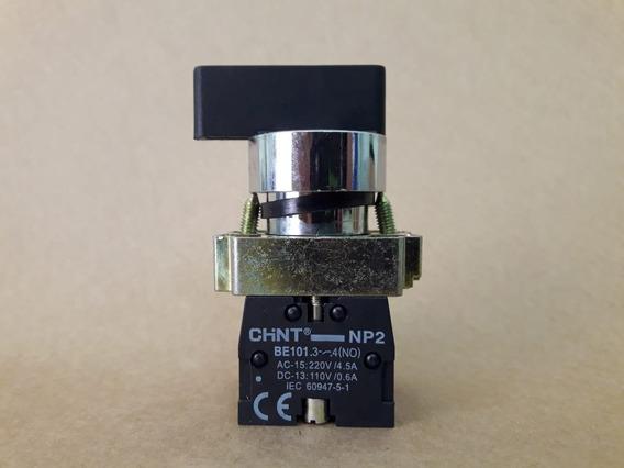 Botão Seletor Metal 2p/3p Fixa-c/ret 1na Ou 1na/1na Np2 Bj