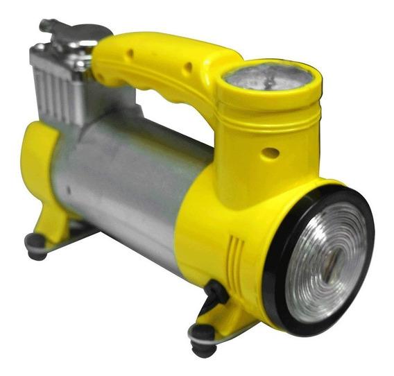Compresor Mini 12v Con Luz 2 En 1 Fino (ht1082)