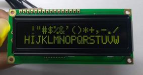 Título: Display Lcd 16x2 Fundo Preto - Letras Verdes