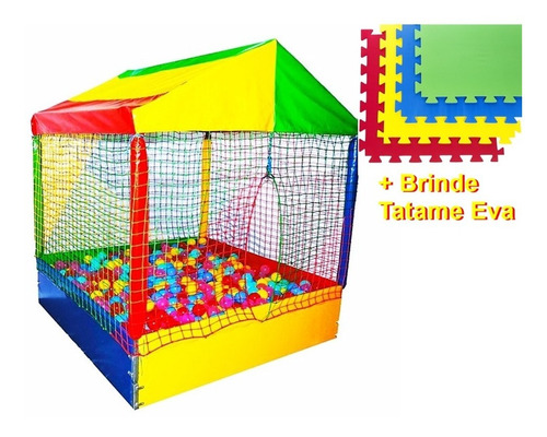 Piscina De Bolinhas Premium 1,0 X 1,0 Brinde Tatame Oferta
