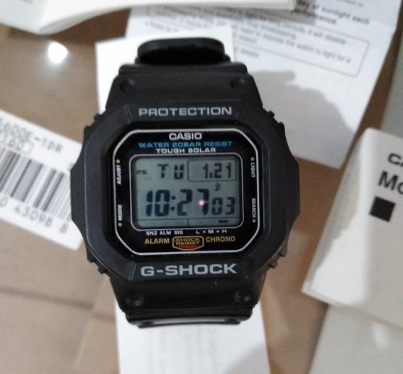Relogio Casio G Shock G-5600e Solar Semi Novo Na Garantia