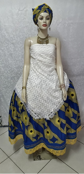 Conjunto/baiana/luxo/ankará/candomblé/umbanda/festa/roupas/