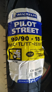 Llanta Michelin 90/90-18 Pilot Street Uso Con O Sin Camara