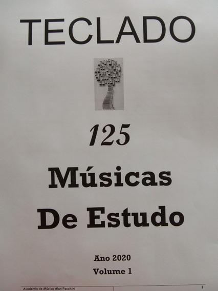Partituras Impressas Para Teclado 125 Músicas