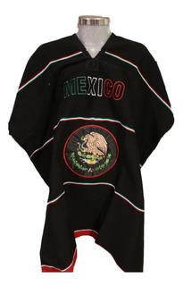 Jorongo Bordado Escudo Mexicano Negro Personalizado (2pack)