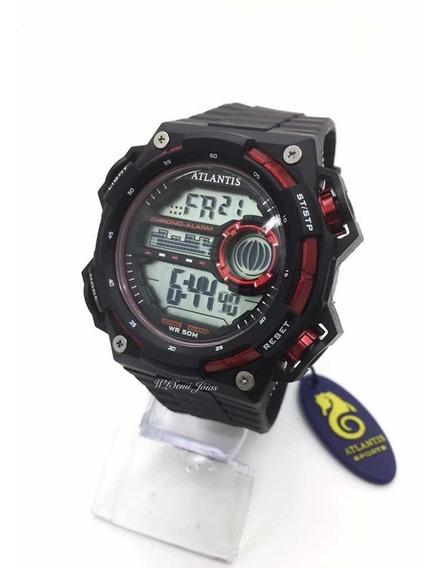 Relógio Masculino Atlantis Sports G7458 Vermelho