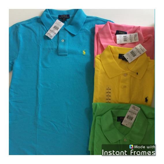 Polo Ralph Lauren Azul Niño Camisa