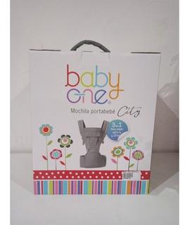 Baby One Mochila C/asiento Gris Bomo-005
