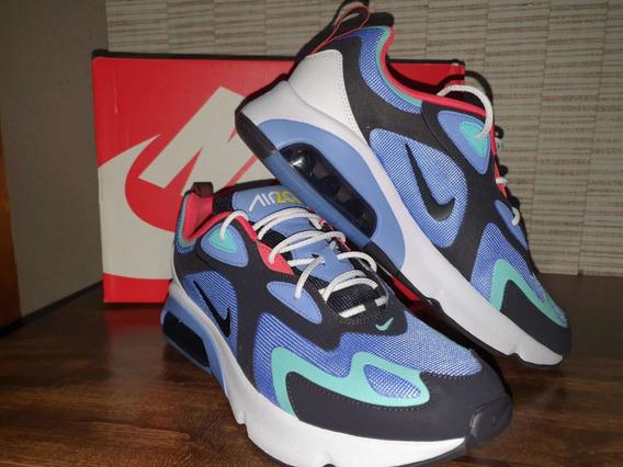 Tênis Nike Air Max 200 Royal Pulse Oil Grey
