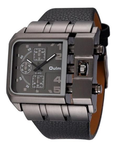 Relógio Masculino Oulm Aço Inoxidável Preto Super Promoção !